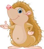 Hedgehog presenting — Stock Vector