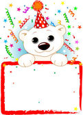 Polar Bear Cab Birthday — Stock Vector