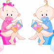 Babies Potty Training — Stock Vector #3147226