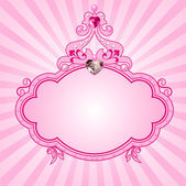 Princess roze frame — Stockvector