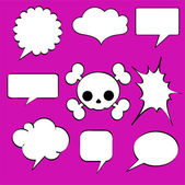 Comics style speech bubbles — Stock Vector