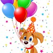 Stock Vector: Birthday Puppy