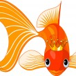 Cartoon Goldfish queen — Stock Vector #3215534