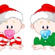 Stock Vector: Christmas Babies