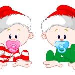 Christmas Babies — Stock Vector