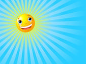 Happy Smiling Sun Summer Background — Stock Vector