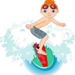������, ������: Surfer boy in Action