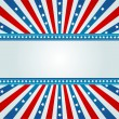 Star Spangled Banner - Stock Vector