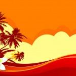 Summer vacation — Stock Vector