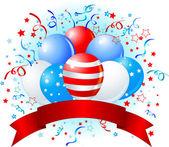 American flag balloons design — Stock Vector