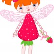 Strawberry fairy - Stock Vector