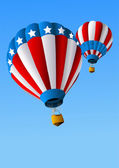 Hot Air Balloons of 4 of July Background — Stock Vector