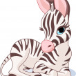 Cute Zebra Foal - Stock Vector