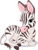 Cute Zebra Foal — Stock Vector