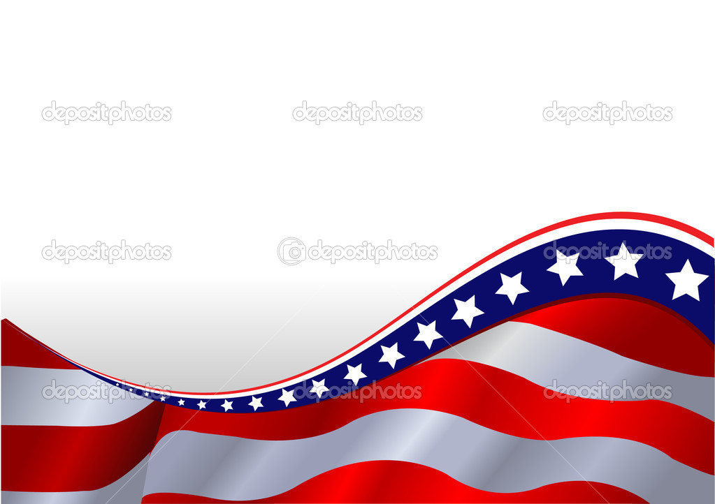 An American flag horizontal background — Stock Vector #3395975