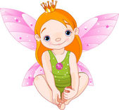 Little Fairy Princess — Stock Vector