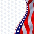 American flag background — Vettoriale Stock  #3417625