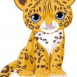 Stock Vector: Cute Jaguar Cub