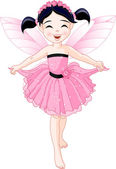 Little pink fairy — Stock Vector