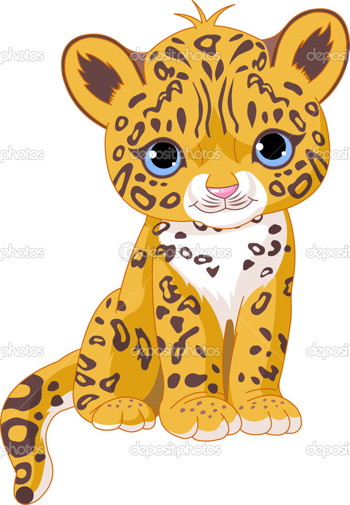 Illustration of Cute Jaguar (Panther) Cub — Stock Vector #3417627