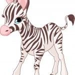 Cute Zebra Foal — Stock Vector #3437140
