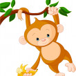 Baby monkey on a tree — ストックベクタ #3447305
