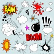 Royalty-Free Stock Vector Image: Comic elements set