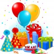 Birthday gifts and decoration - Imagens vectoriais em stock