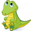 Stock Vector: Baby crocodile