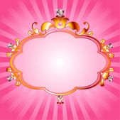 Princess pink frame — Vecteur