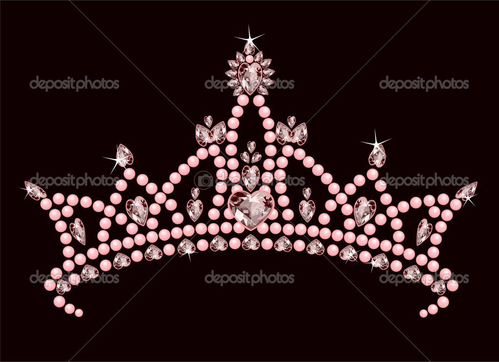 Beautiful shining true princess crown — Stock Vector #3518959