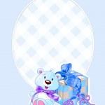 赤ちゃん男の子到着カード — ストックベクタ