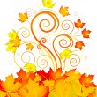 Autumn swirl — Stock Vector #3581410
