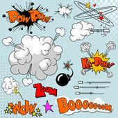Set of comic elements — Stockvektor