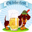 Stock Vector: Oktoberfest dog