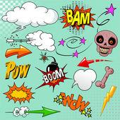 Set of comic elements — Stock Vector