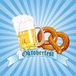 Oktoberfest Celebration Radial Background - Stock Vector
