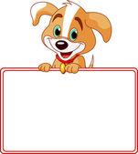 Puppy plaats kaart — Stockvector