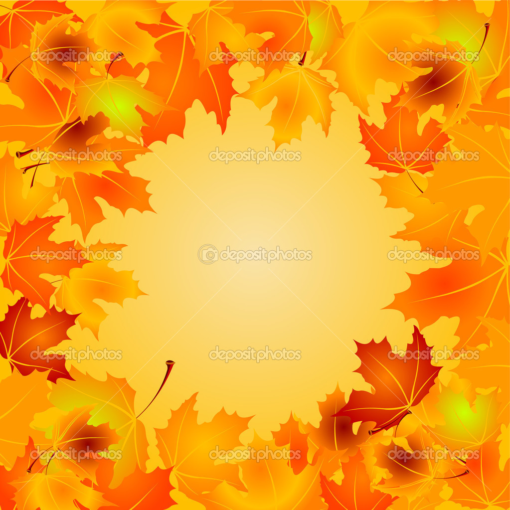 Autumn Leaves vector background with copy space  Stock Vector #3645416