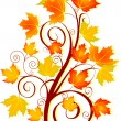 Stock Vector: Autumn swirl
