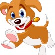 Running funny puppy - Stock Vector
