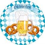 Oktoberfest Celebration round design — Stock Vector