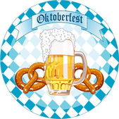 Oktoberfest Celebration round design — Stock Vector