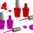 Nail polish - Stock Vector
