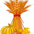 Thanksgiving / harvest background - Stock vektor
