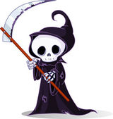 Cartoon grim reaper — Stockvektor