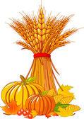 Thanksgiving / harvest background — Stock Vector