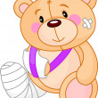 Get well Teddy Bear - Stock Vector