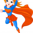 Stock Vector: Super Girl