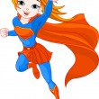 Super Girl — Stockvectorbeeld
